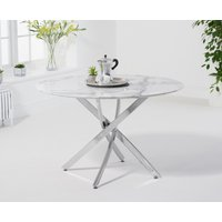 Carter 120cm Round White Marble Dining Table