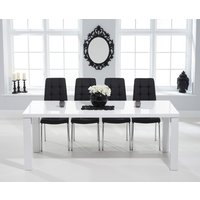 Read more about Atlanta 200cm white high gloss dining table with calgary chairs