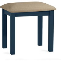 Product photograph showing Somerset Oak And Blue Dressing Table Stool
