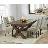 Read more about Bordeaux 200cm dark solid oak extending dining table with anais chairs