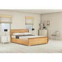 Windsor Solid Oak Sleigh Ottoman Super King Size Bed