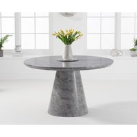 Ravello 130cm Round Grey Marble Dining Table