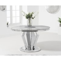 Viscount 130cm Round Marble Dining Table