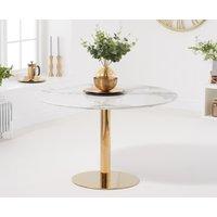 Newton 120cm Round White Dining Table