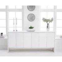 Dorit 180cm White Marble Sideboard