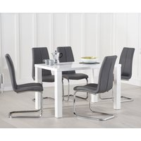 Read more about Atlanta 120cm white high gloss dining table with tarin chairs