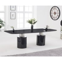 Antonio 260cm Black Marble Dining Table