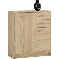 Moderne 2 Door 2 drawer Oak Cupboard