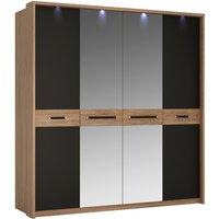 Product photograph showing Coastal 4 Door Wardrobe With Mirror Door