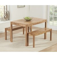 Read more about Oxford 120cm solid oak dining table with benches
