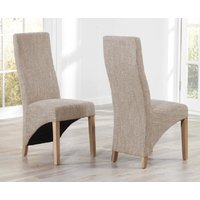 Product photograph showing Henley Tweed Fabric Dining Chairs - Tweed 2 Chairs