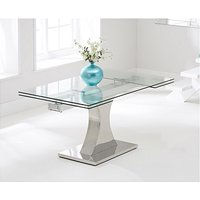 Product photograph showing Ex-display Athena 160cm Glass Extending Dining Table