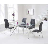 Read more about Savelli 150cm glass dining table with calgary chairs