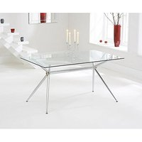 Product photograph showing Ex-display Savelli 150cm Glass Dining Table