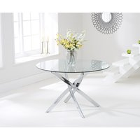 Read more about Denver 110cm round glass dining table