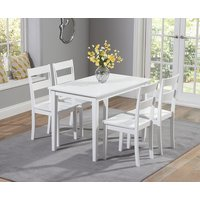Chiltern 114cm White Dining Set with Chairs - White, 4 Chairs