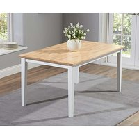 Product photograph showing Ex-display Chiltern 150cm White And Oak Dining Table