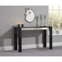 Product photograph showing Ex-display Cannes Black High Gloss Console Table