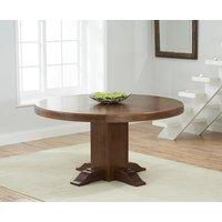 Torino 150cm Dark Oak Round Pedestal Dining Table