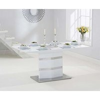Product photograph showing Ex-display Serena 160cm White High Gloss Dining Table