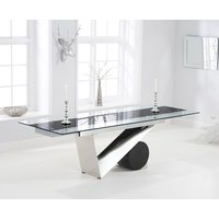Product photograph showing Pretoria 170cm Extending Black Glass Dining Table