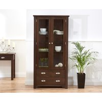 Product photograph showing Somerset Dark Oak Display Cabinet
