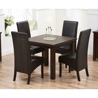 Read more about Somerset 90cm flip top dark oak dining table with dakota chairs - brown- 2 chairs