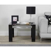 Product photograph showing Ex-display Cannes High Gloss Black Lamp Table