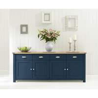 Somerset 4 Door 4 Drawer Oak and Blue Sideboard