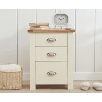 Read more about Somerset oak and cream tall 3 drawer bedside table