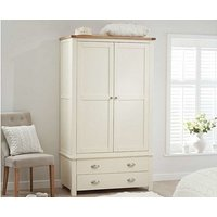 Read more about Ex-display somerset oak and cream two door two drawer wardrobe