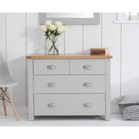 Read more about Somerset oak and grey 2 over 2 drawer chest
