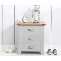 Read more about Somerset oak and grey 3 drawer bedside table