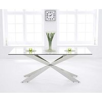 Product photograph showing Ex-display Juniper 160cm Glass Dining Table