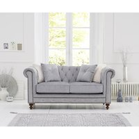 Read more about Milano chesterfield grey plush 2 seater sofa