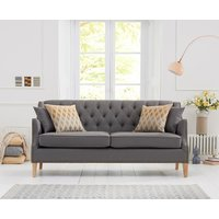 Read more about Charlotte chesterfield grey linen fabric 3 seater sofa