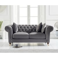 Read more about Carrara chesterfield grey velvet 2 seater sofa