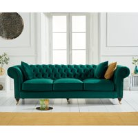 Read more about Carrara chesterfield green velvet 3 seater sofa