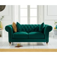 Read more about Carrara chesterfield green velvet 2 seater sofa
