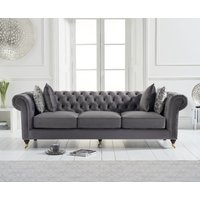 Read more about Carrara chesterfield grey velvet 3 seater sofa