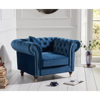 Read more about Carrara chesterfield blue velvet armchair