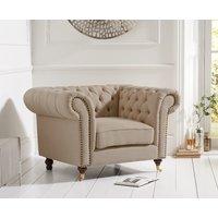 Read more about Carrara chesterfield beige linen armchair