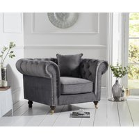 Read more about Carrara chesterfield grey velvet armchair