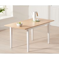 Read more about Chiltern 120cm extending white and oak dining table