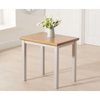 Product photograph showing Hastings 60cm Grey And Oak Extending Dining Table