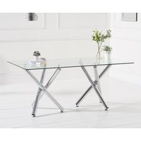 Product photograph showing Ella 180cm Glass Dining Table