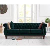 Henbury Chesterfield Green Velvet 3 Seater Sofa