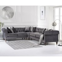 Limoges Medium Grey Velvet Corner Sofa