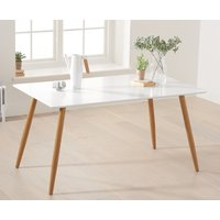 Product photograph showing Malmo 130cm Matt White Dining Table