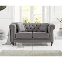 Read more about Milano chesterfield grey linen 2 seater sofa